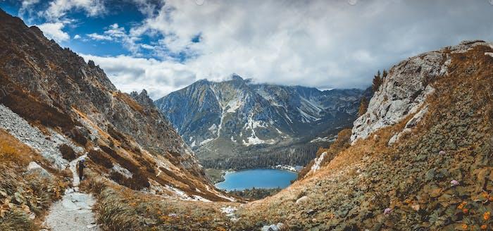 Strbske Pleso See im Tal. Die Tatra