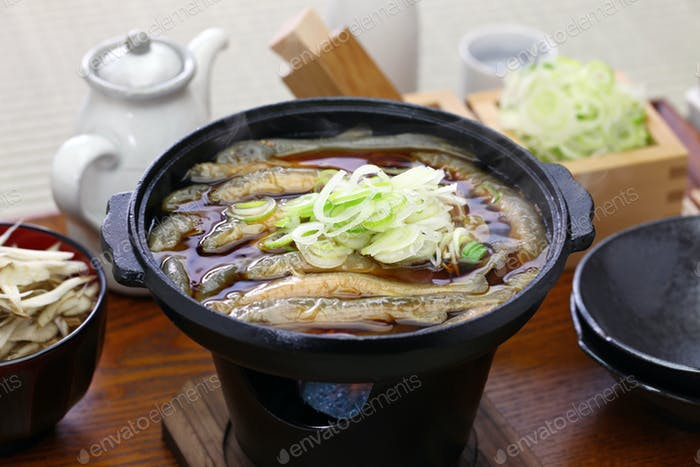 Dojo nabe, dojo loach hot pot, japanese traditional food