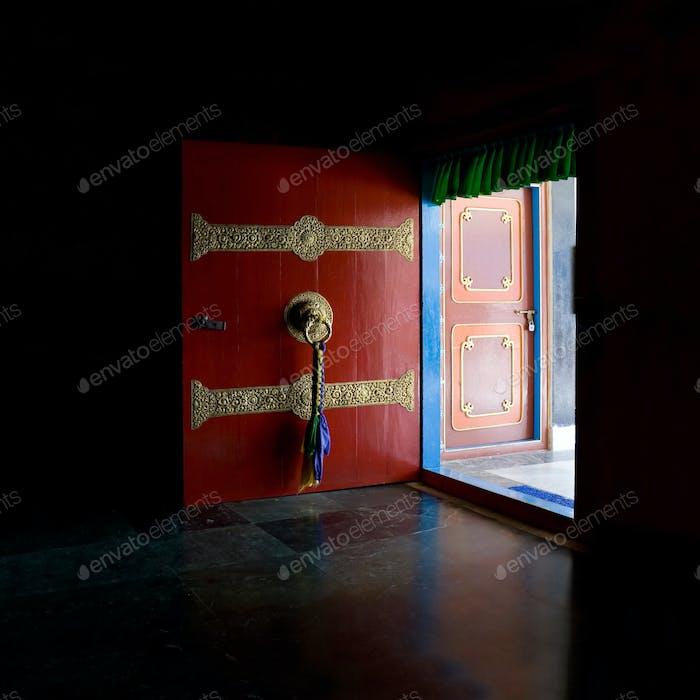 Open the red door
