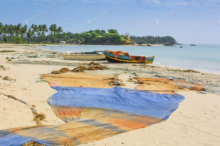 Trincomalee Fishing Boats and Nets