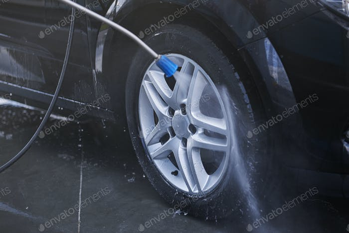 Perfect way for cleaning tire is using pressure washer