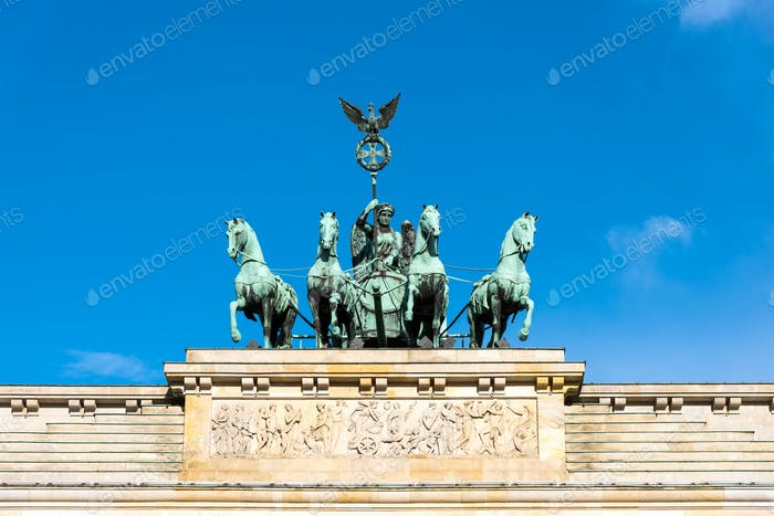 Detail der Quadriga in Berlin