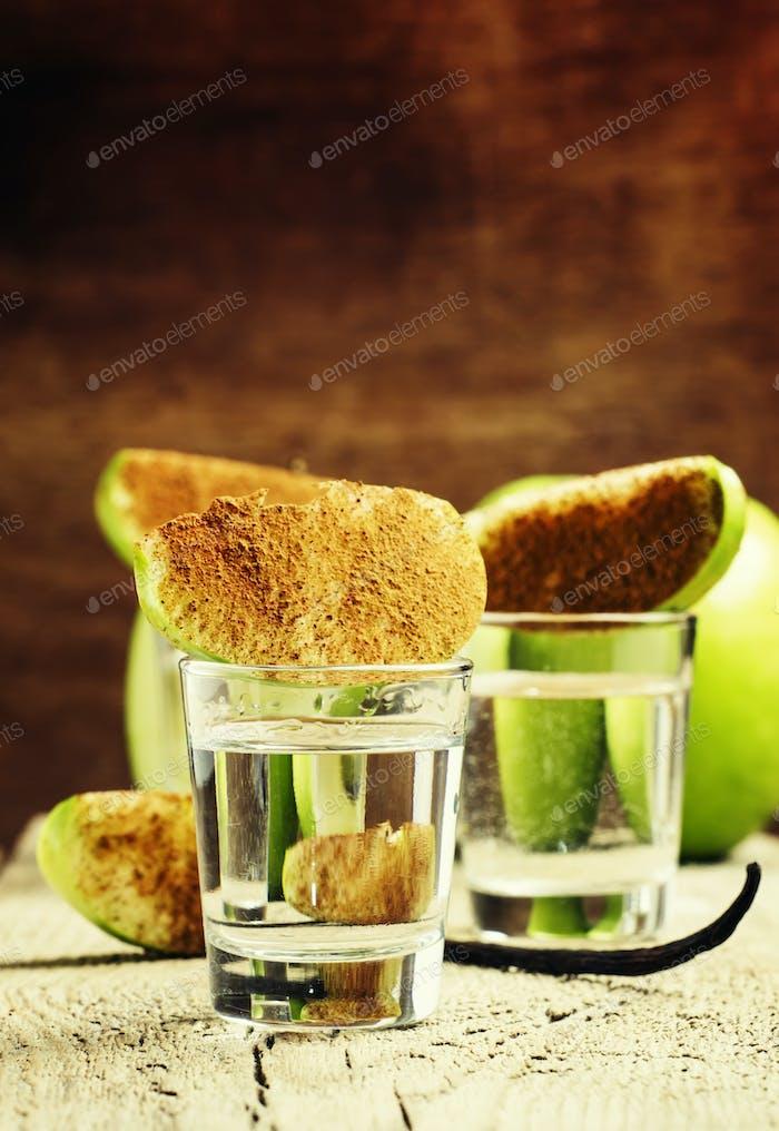Vanilla vodka with apple