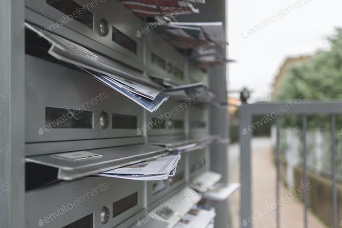 Mailboxes filled