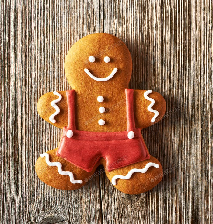 Weihnachten hausgemachte Lebkuchenmann Cookie