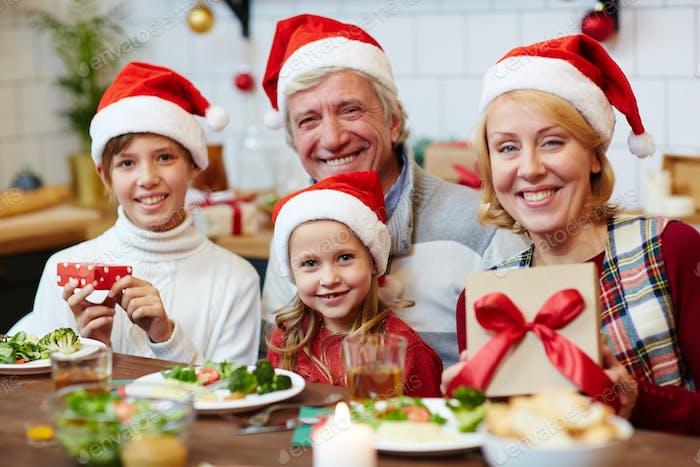 Feier von Weihnachten