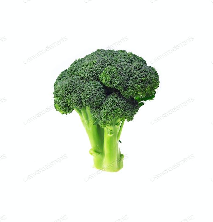 frischer Brokkoli isoliert auf weiß