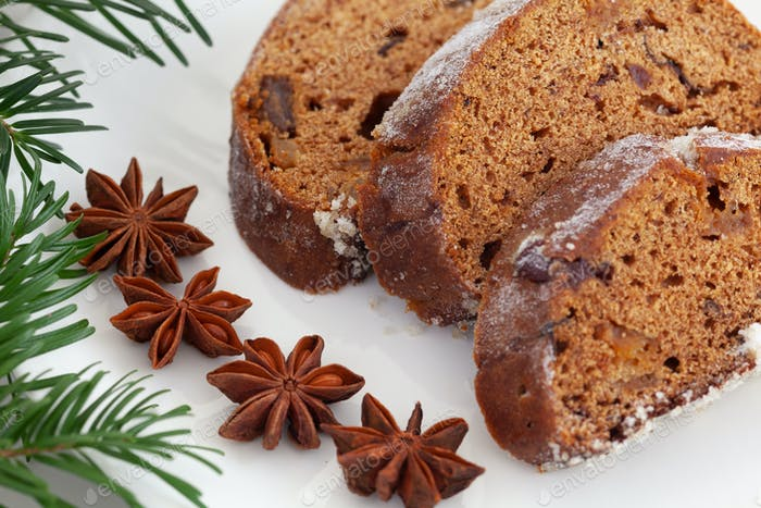 Traditional Christmas Homemade Stollen Cake