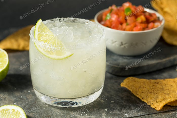 Homemade Margarita with Chips and Salsa