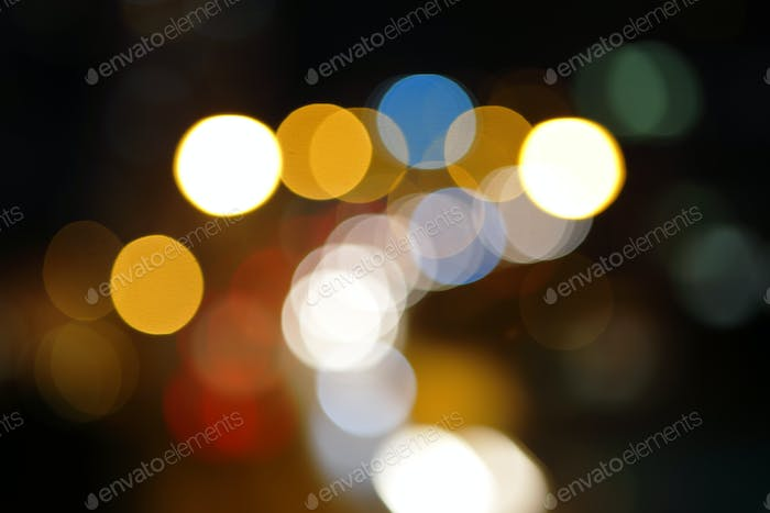 Christmas light background in blur