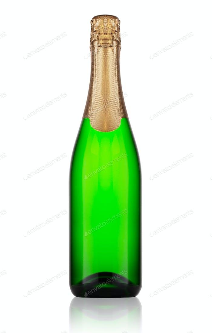 Ggreen bottle of champagne