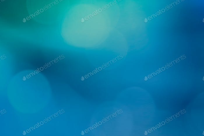 Bokeh pattern on a blue background