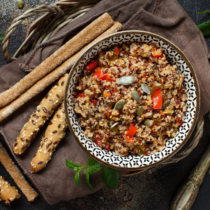 Tricolor Quinoa and Vegetables  stew