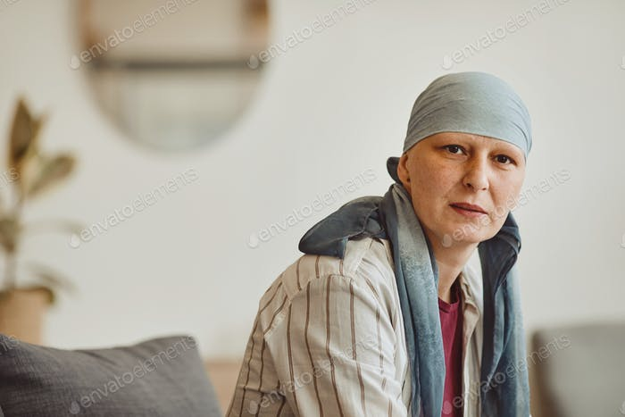 Mature Woman Wearing Headscarf