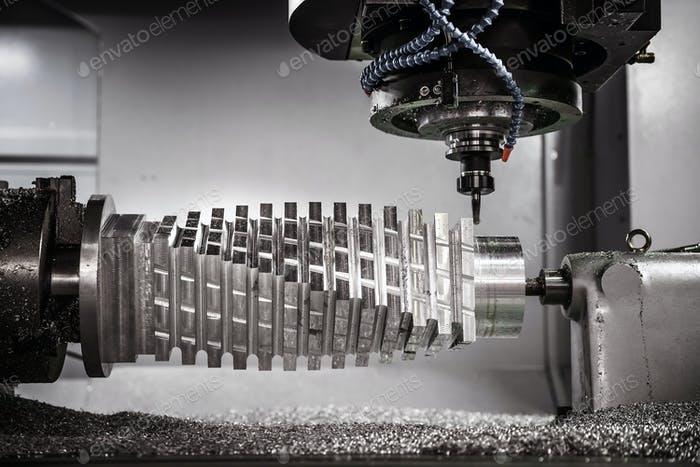 Metalworking CNC milling machine.