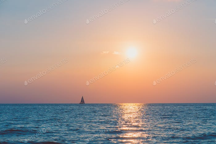 Sunset with sea