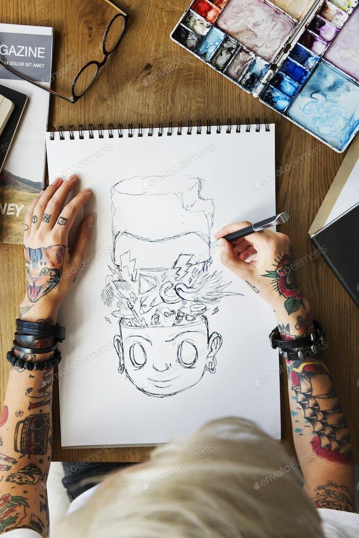 Tattoo Woman Creative Ideas Design Inspiration Concept