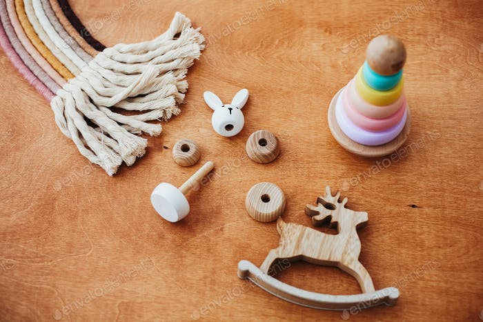 Eco friendly, plastic free educational toys for toddler