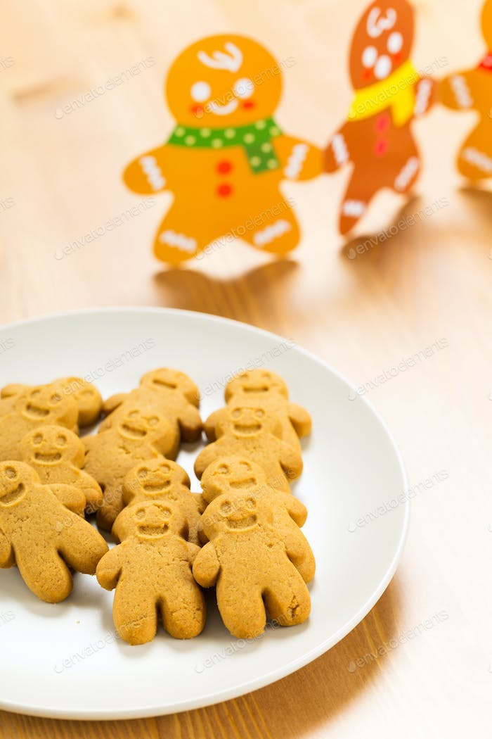 Gingerbread man and christmas card