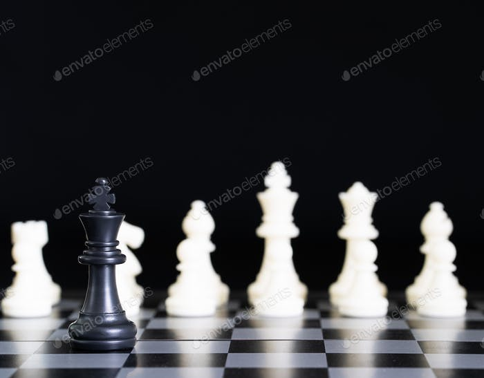 Chess pieces on chessboard-9