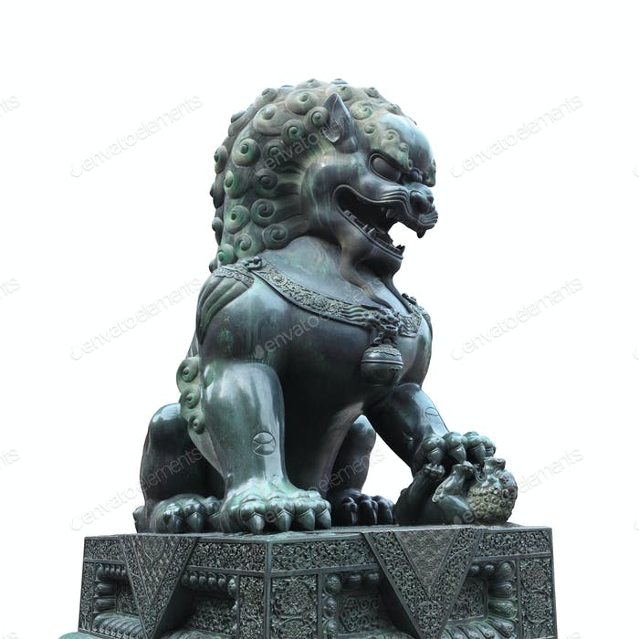 Bronze Löwe isoliert