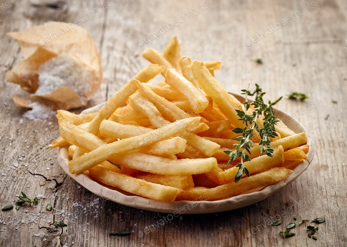 Teller Pommes frites