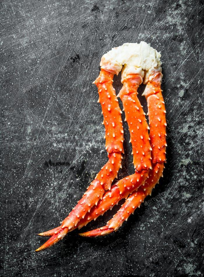 Fresh boiled crab.