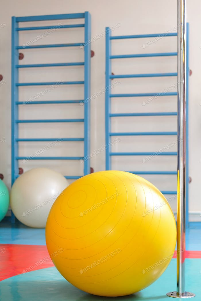 Fitness ball and sports equipment
