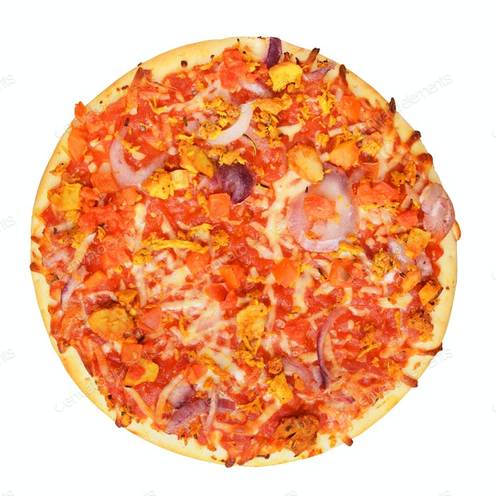 Classic pizza isolated