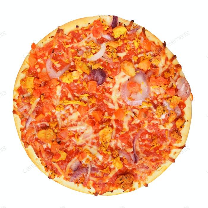 Klassische Pizza isoliert