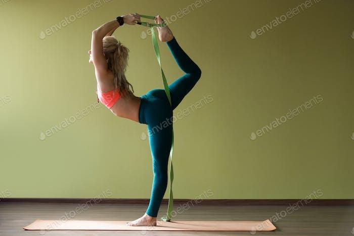 Dancer king yoga pose