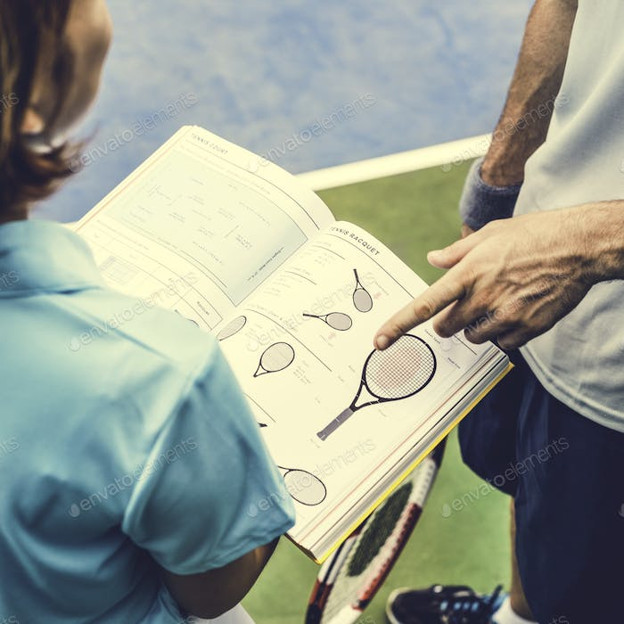 Tennis Trainer Training Coaching Knowledge Concept