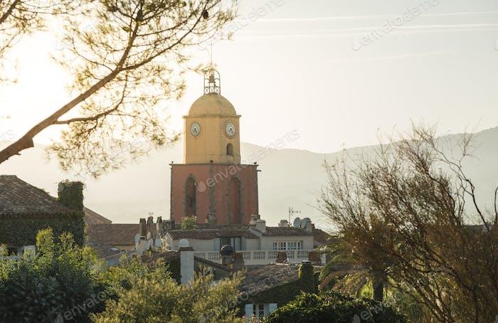 Saint-Tropez the clock tower