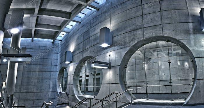 Underground HDR metro station panorama
