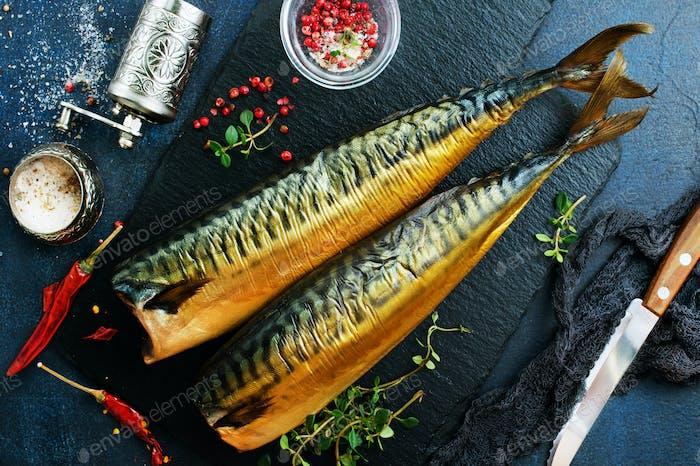 geräucherter Fisch