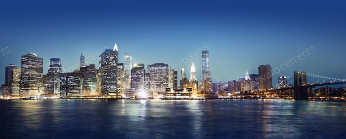 Panaroma Of New York City