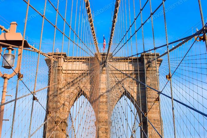 The Brooklyn bridge, Nueva York, Estados Unidos