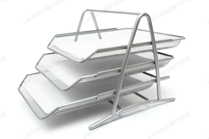 Filing System Isolated on a White Background