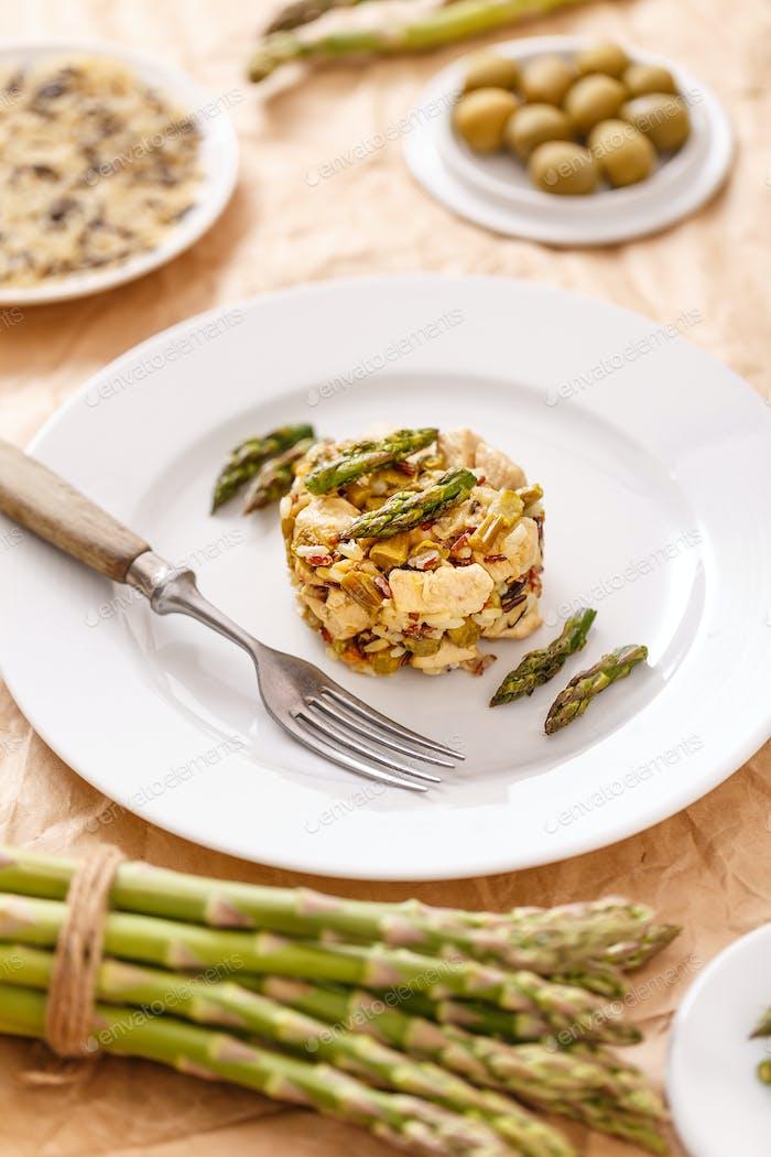 Risotto mit gehobener Küche