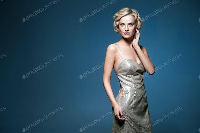 Evening dress woman portrait