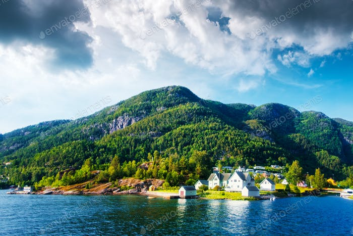 Small village in Norway