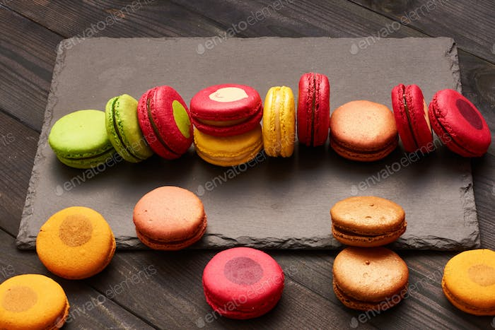 French delicious dessert macaroons