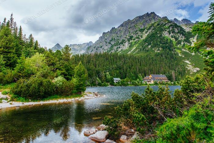 See in Popradske Pleso, Slowakei. Beauty Welt
