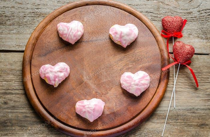 Süße Herzen am Valentinstag Feier