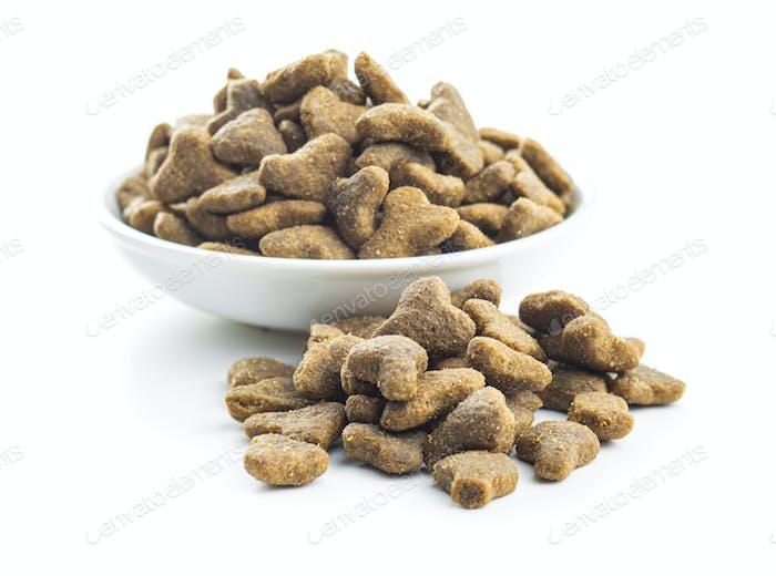 Dry kibble pet food. Kibble for dog or cat.
