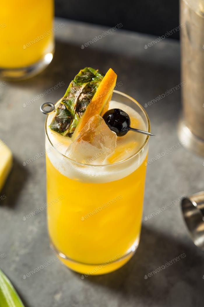 Refreshing Boozy Yellow Bird Cocktail