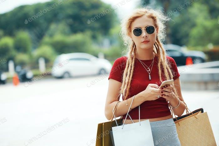 Stylish shopaholic