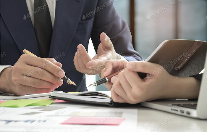 Management is executing the secretary is taking notes