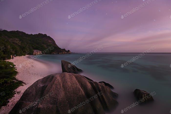 Tropical Beach At Night