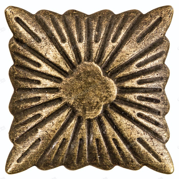 Filigree in the form of a square, decorative element for manual